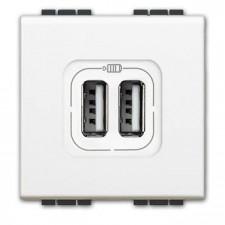 Toma USB recarga rápida bticino Livinglight N4285C2 blanco