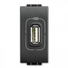 Toma USB con tensión bticino Livinglight L4285C Antracita