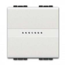 Pulsador ancho axial Livinglight BTicino N4055M2A blanco