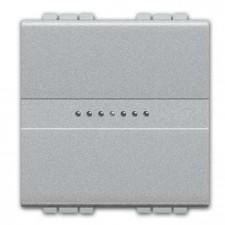 Pulsador ancho axial Livinglight BTicino NT4055M2A Tech