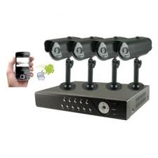 Kit videovigilancia CCTV grabador digital 4 cámaras 40036 OpenetICS