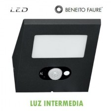 Aplique panel solar LED IRIS negro 2.5W 120º