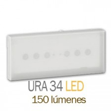 Luminaria de emergencia legrand 661242 ura 34 led