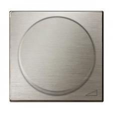 Tapa regulador electronico giratorio 8560.2 ai acero inox niessen sky