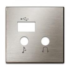 Tapa módulo USB bluetooth 8568.3 ai acero inox niessen sky