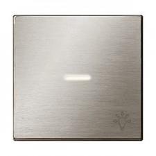 Tecla con visor luz 8504.4 ai acero inox niessen sky