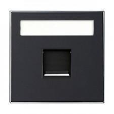 Tapa toma informatica con persiana 8518.1 ns negro soft niessen sky