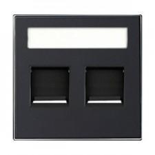 Tapa toma informatica persiana 8518.2 ns negro soft niessen sky
