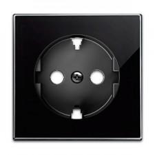 Tapa enchufe schuko 8588.9 cn cristal negro niessen sky