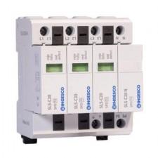 Descargador de sobretensiones transitorias trifásico Ingesco 220V SLS-C20/3+1