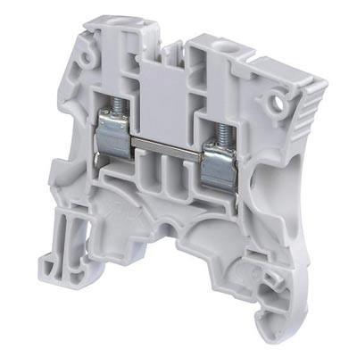 Borna de conexión carril DIN 10mm gris ABB