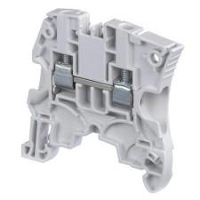 Borna de conexión carril DIN 16mm gris ABB