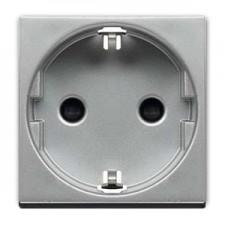 Base enchufe bipolar n2288 pl plata serie zenit niessen