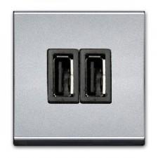 Toma cargador Usb N2285 PL plata Zenit Hit by Niessen