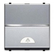 Pulsador simbolo timbre 2 modulos plata n2204 pl zenit niessen