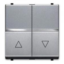 Doble pulsador persianas plata n2244 pl zenit niessen