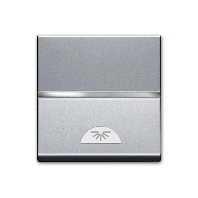 Pulsador simbolo luz 2 modulos plata n2204.2 pl zenit niessen