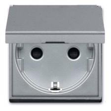 Base enchufe con tapa n2288.1 pl plata serie zenit niessen