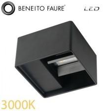 Aplique led LEK NEGRO 6.5w 3000K Beneito & Faure
