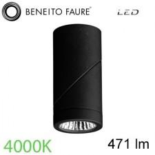 Foco led PLUS 7W Negro 4000K Beneito & Faure
