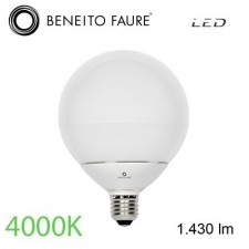 Bombilla GLOBO led 14W E27 4000K Beneito & Faure