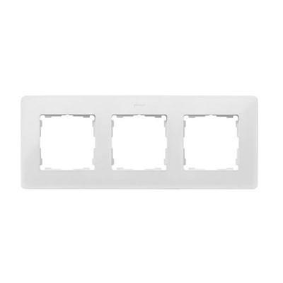 Marco blanco base aluminio premium 2 elementos 8200620-230 Simon Detail Original