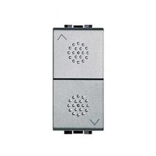 Conmutador doble persianas tech NT4027 1 modulo Livinglight Bticino