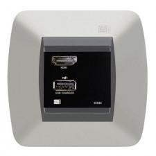 Cargador USB interfaz HDMI color negro 05022 EGI