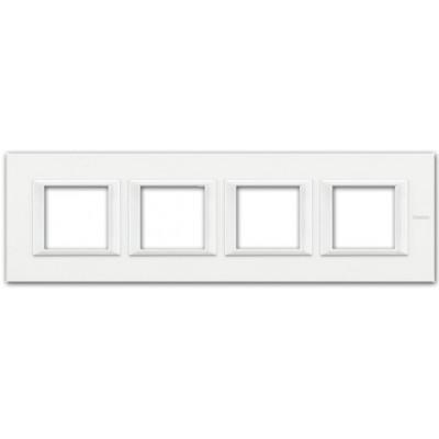 Marco recto blanco axolute BTicino HA4802M4HHD 4 ventanas