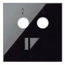 Tapa toma de televisión y RJ45 cat6 10000072-138 Simon 100 negro