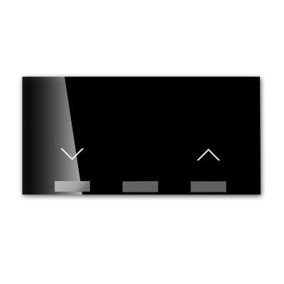 Tecla persianas pulsante 10001080-138 Simon 100 negro
