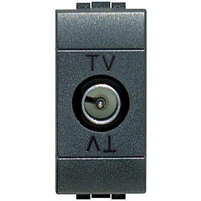 Toma TV estrecha color antracita L4202D Livinglight Bticino