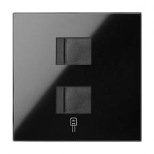 Tapa toma de informática doble RJ45 10000006-138 Simon 100 negro