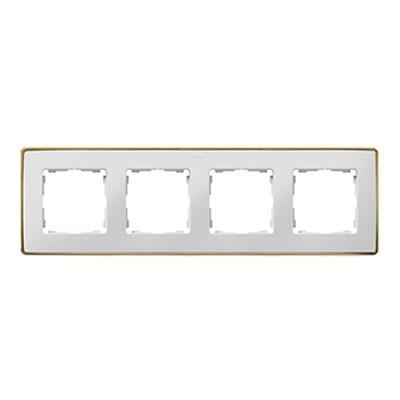 Marco Simon 82 Detail 4 elementos blanco base oro 8201640-245