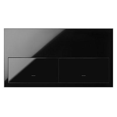 Kit front 2 elementos 2 teclas 10020201-138 negro Simon 100