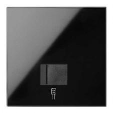 Kit front 1 elemento 1 toma RJ45 10020106-138 negro Simon 100
