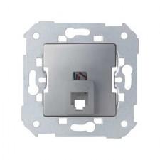 Toma teléfono 4 contactos Simon 75480-33 aluminio