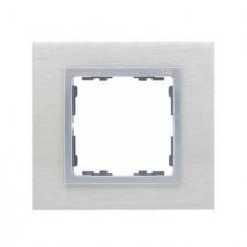 Marco acero inox aluminio 1 elemento Simon 82 Nature 82917-34