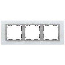 Marco acero inox aluminio 3 elementos Simon 82 Nature 82937-34