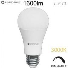 Bombilla regulable standard LED 17W 3000K E27 3528