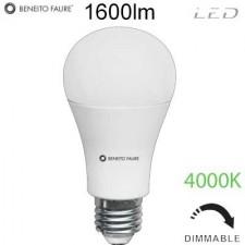 Bombilla regulable standard LED 17W 4000K E27 3529