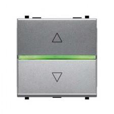 Interruptor de persianas electrónico plata N2261.2 PL zenit niessen