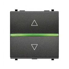 Interruptor de persianas electrónico antracita N2261.2 AN zenit niessen