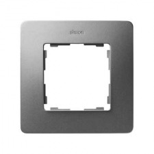 Marco aluminio frío base negro 8200610-293 1 elemento Simon Detail Air