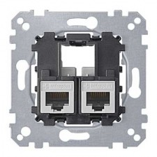 Toma RJ45 doble S-One cat 6 UTP MTN4576-0002 Schneider electric
