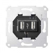 Toma cargador USB doble MTN4366-0000 1400mA Schneider D-life