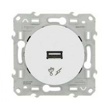 Toma cargador USB simple blanco S520408 odace schneider