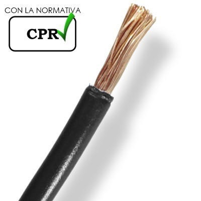 Cable 4mm negro normal flexible 750V H071-K