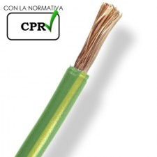 Cable eléctrico 6mm 750V H071-K flexible normal verde amarillo