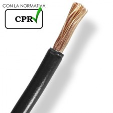 Cable de 10mm negro libre halógenos flexible por metros